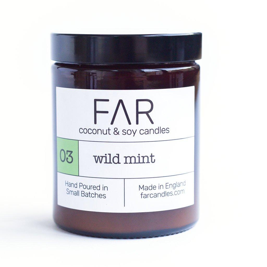 Wild Mint Coconut & Soy Wax Candle 180ml Jar